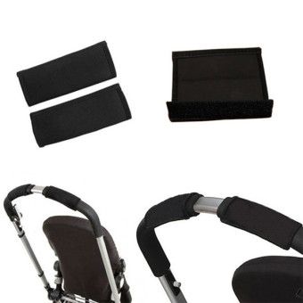Hanyu Baby Stroller Handrail Cover 2 Pieces Black - picture 4