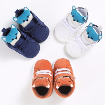 Hanyu Spring and Autumn Baby Toddler Infant Fashion Fox Cotton SoftSole 0-1 Year Old Male and Female Baby Shoes (Pink) - intl - 5