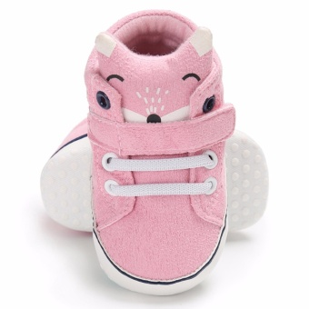 Hanyu Spring and Autumn Baby Toddler Infant Fashion Fox Cotton SoftSole 0-1 Year Old Male and Female Baby Shoes (Pink) - intl - 4
