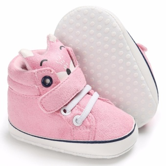 Hanyu Spring and Autumn Baby Toddler Infant Fashion Fox Cotton SoftSole 0-1 Year Old Male and Female Baby Shoes (Pink) - intl - 2