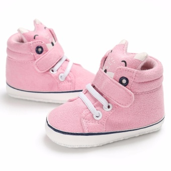 Hanyu Spring and Autumn Baby Toddler Infant Fashion Fox Cotton SoftSole 0-1 Year Old Male and Female Baby Shoes (Pink) - intl - 3