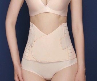 Haotom Body Shaper Waist Trimmer Postpartum Support Belt BengkungModern Corset Girdle Belts(Natural) - 2