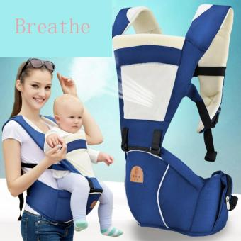 Haotom Breathable Multifunctional Front Facing Baby Carrier InfantComfortable Sling Backpack Pouch Wrap Baby Kangaroo(Blue)