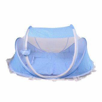 Happy baby multipurpose Portable light weight Baby Bed withMosquito Net (BLUE) Price Philippines