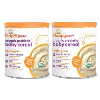 Happy Baby Organic Multigrain Baby Cereal Set of 2
