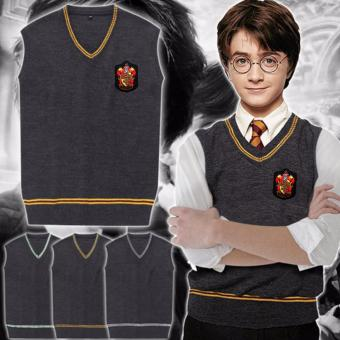 HAPPY KIDS Harry Potter Costume Cosplay Hogwarts Gryffindor House Student's Vest (Large)