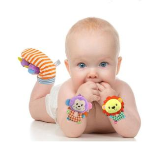 Happy Monkey 2pcs/pair Animal Baby Socks Baby Rattle Toys Bed Bells For Newborn Infant Brinquedos Do Bebe - intl Price Philippines