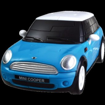 Happy Well 1:32 Mini Cooper 3D Puzzle Assemble (Blue solid Version)