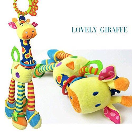Here Fashion Baby Infant Plush Giraffe Animal Stroller Rattle ...