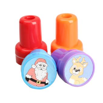 HKS 4 Pieces Christmas Ink Stamper Kids Crafts Toy (Intl)