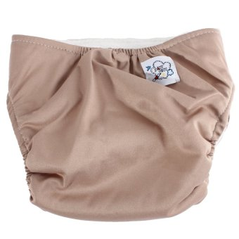 HKS Baby Adjustable Reusable Washable Leakproof Nappy Diaper Covers (Coffee) - Intl - picture 2