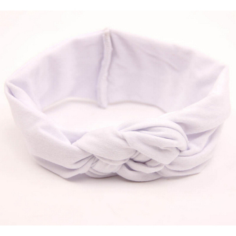 HKS Baby Girl Knotted Hair Band White (Intl)