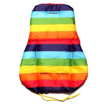HKS Baby Stroller Cushion Pad Pram Padding Liner Car Seat Pad Rainbow Waterproof - Intl - picture 2