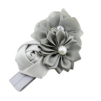HKS Chiffon Faux Pearl Headband (Grey) (Intl)