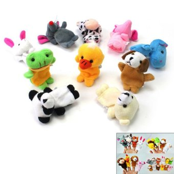 HKS Chinese Zodiac 12 Animals Finger Puppets Plush Toys Kids Baby Play Toys - Intl - picture 2