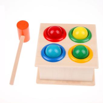 HKS Hammering Wooden Ball Hammer Box Children Early Learning Educational Toys (Intl)