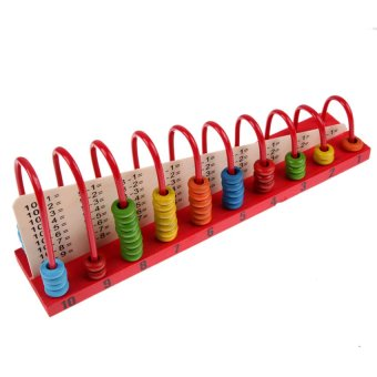 HKS Kids Wooden Toys Child Abacus Counting Beads Maths Learning Educational Toy - Intl
