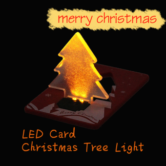 HKS Pocket Folding Xmas Tree Shape LED Light Credit Card (Intl) - picture 2