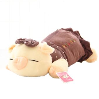 HKS Three Cute Plush Toys Doll Doll Pig Pig Pig Creative Gift Birthday Gift to Send His Girlfriend-Army Green 38cm - Intl