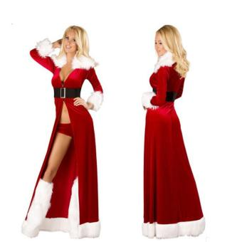 Hot Classic Christmas Costume Female Sexy Santa Claus SuitChristmas cloak Costumes