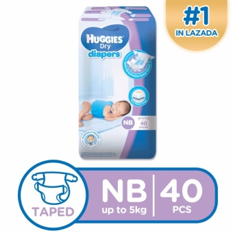 Huggies Dry Diapers Newborn - (40pcs)