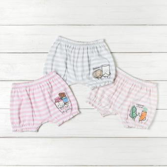 Hush Hush Baby Girls 3-piece Foods Shorts Set (Multi-colored) Price Philippines