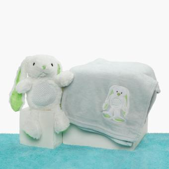 Hush Hush Bunny Blanket with Plush Toy Gift Set