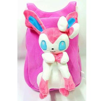 Cute Anime Pokemon Soft Plush Backpack (SYLVEON) Price Philippines