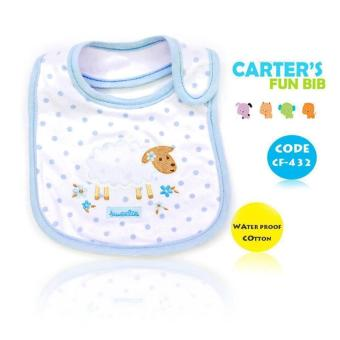 New 2017 BEST STORE BABY SHOP Carter's Bow Suit Baby Feeding Bib 432 (Blue) Price Philippines
