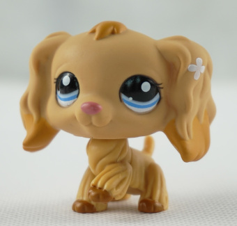 Harga Tan Cocker Spaniel Dog Blue Eyes Caramel Tipped Ears Littlest Pet Shop LPS 1716 - Intl