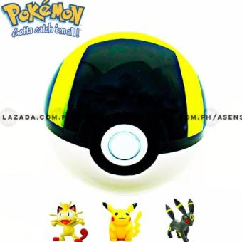 Pokemon Functional Pokeball with 3 Random Pokemon Collectible Figurines Price Philippines