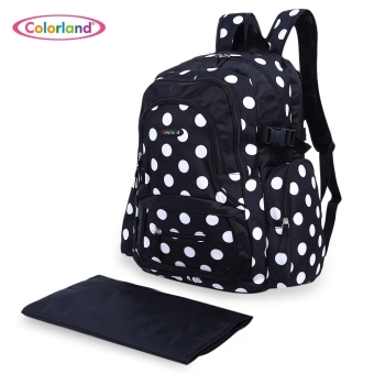 Harga Colorland Waterproof Baby Diaper / Food Backpack