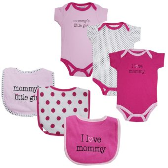 Luvable Friends Girls Bodysuits 3-pack with 3-pack Bibs, Mommy Price Philippines