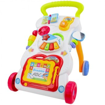 Harga Huanger Grow up Happily Children Music Educational Stand Walker Toy (White/Green/Orange)