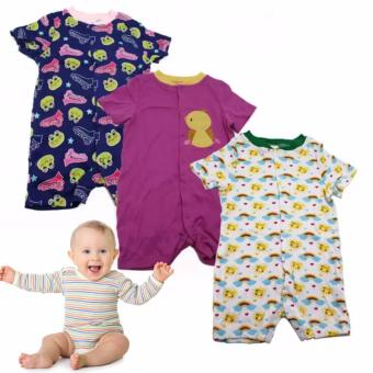 Tickle R2 Assorted Color/Design Babies 3 Pack Romper Price Philippines