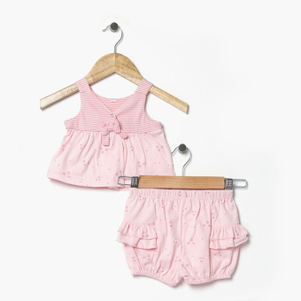 Harga Hush Hush Girls All-Over Stars Top And Shorts Set (Pink)