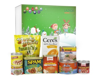 Holiday Gift Basket (Green) Price Philippines