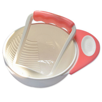Harga Baby Learn Dishes Grinding Bowl Handmade Grinding Food Supplement Food Mill Pink - Intl