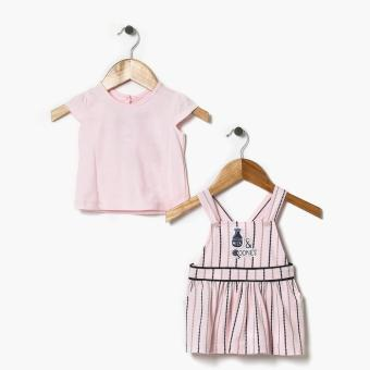 Harga Hush Hush Girls Milk And Cookies Jumper Dress (Pink)
