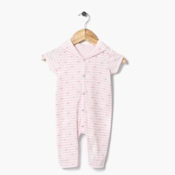 Harga Hush Hush Girls Knot Ribbon Hooded Bodysuit (Pink)