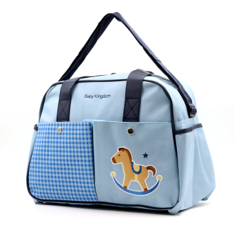 BABY STEPS Horsie Baby Kingdom Baby Diaper Bag (Blue) Price Philippines