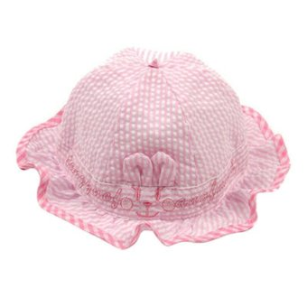 Harga BABY Girls bonnet stripe COTTON SUMMER sun hat caps bows Beanie dicer Beauty pink