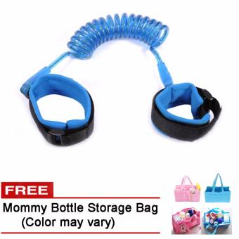 Safety Harness Strap Child Anti Lost Belt (Blue) Free Mommy Bottle Storage Bag (Color may vary) Price Philippines