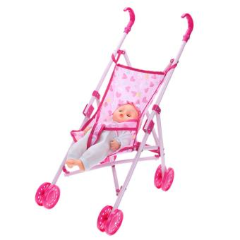 Dolls Buggy Stroller Pushchair Pram Foldable Girls Toy Doll Pram Baby Doll - Intl Price Philippines