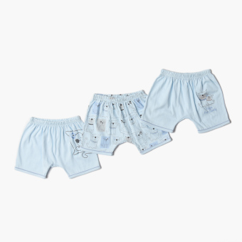 Harga Hush Hush Boys 3-Piece Cutie Doggie Shorts Set (Blue)