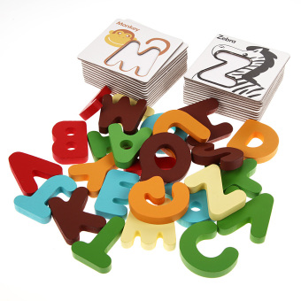 Harga NEW Wooden Letter Digital Card Kid Educational Toys Kids Toys( Letter)