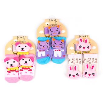 Harga Baby Girl Foot and Wrist Rattle set of 3