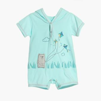 Harga Hush Hush Boys Bear Flying Kite Hooded Romper (Turquoise)