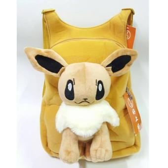 Cute Anime Pokemon Soft Plush Backpack (EEVEE) Price Philippines
