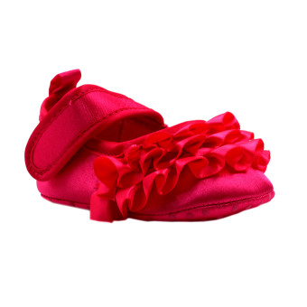 BABY STEPS Flossy Ruffles Baby Girl Shoes (Hot Pink) Price Philippines